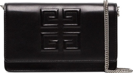 Givenchy Black logo embossed small leather bag