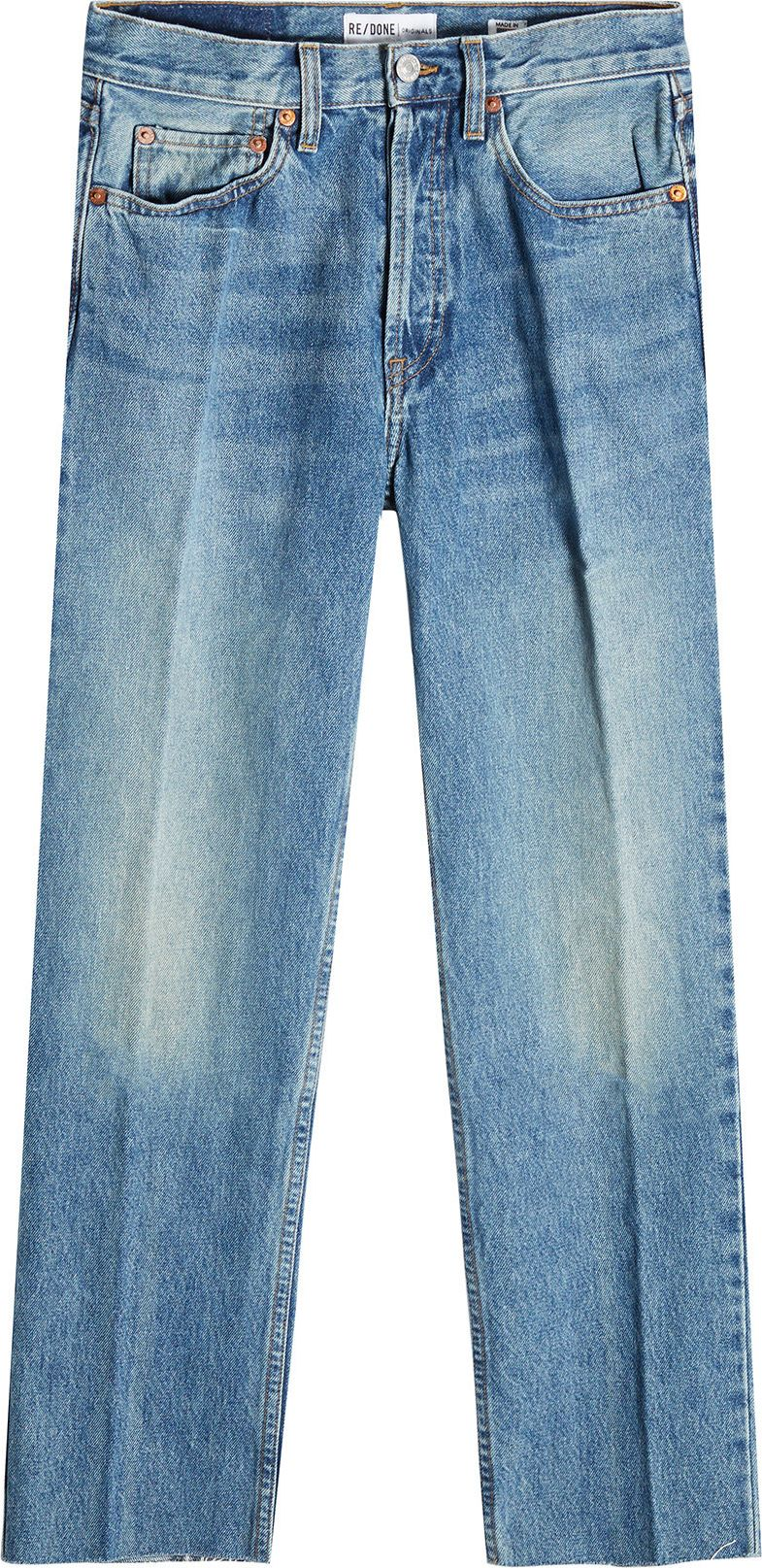 RE/DONE - High-Waisted Cropped Jeans