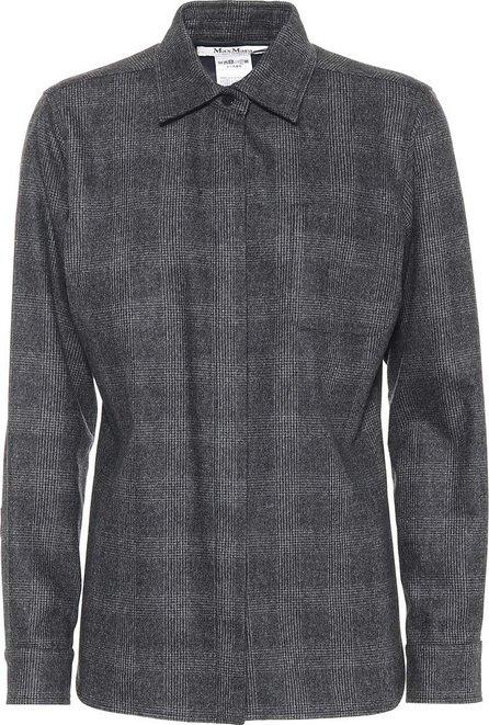 Max Mara Ranghi wool and cashmere checked shirt
