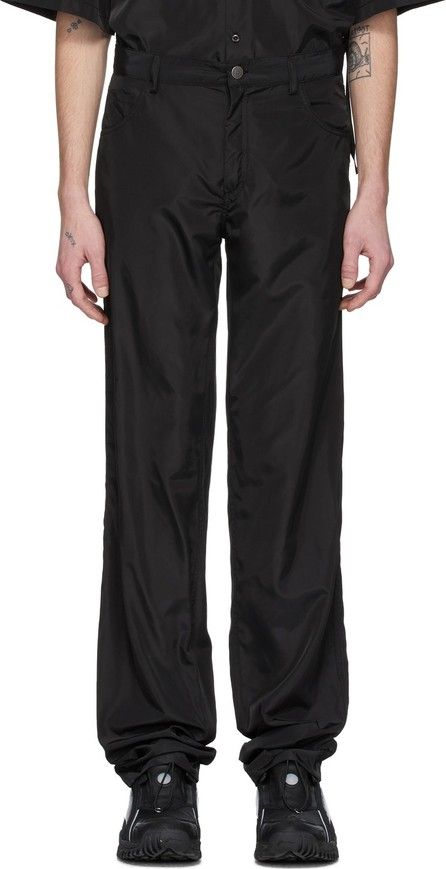 Ottolinger Black Satin Straight Trousers
