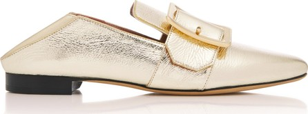 Bally Janelle Collapsible Metallic Leather Loafers