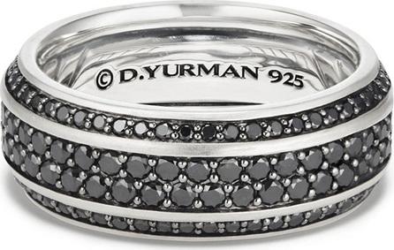 David Yurman Beveled Edge Band Ring with Black Diamonds