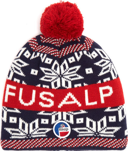 Fusalp Snowflake and logo-intarsia wool-blend beanie hat