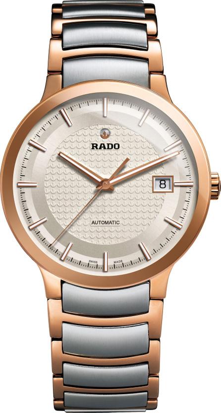 Rado Centrix Logo Embossed Automatic Bracelet Watch, 38mm
