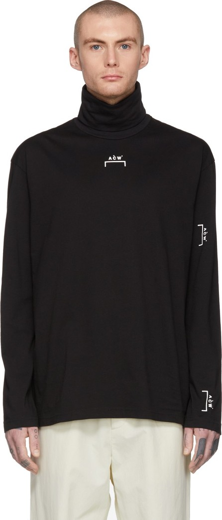 A-Cold-Wall* Black Zip Back Turtleneck