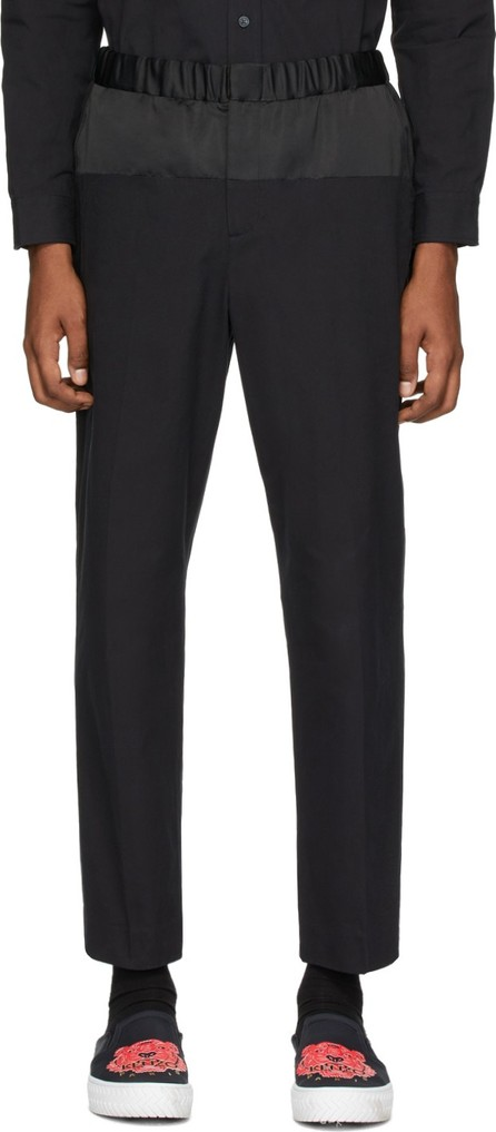 KENZO Black Patched Trousers