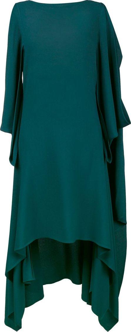 sleeveless draped asymmetric dress - Green Sies Marjan sVJsUMvM