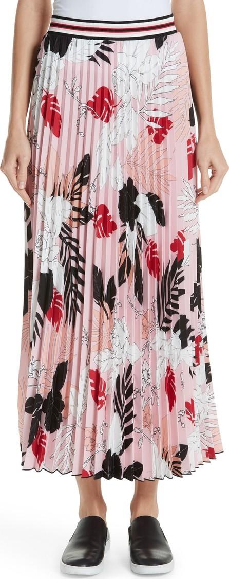 Fuzzi Print Pleat Maxi Skirt