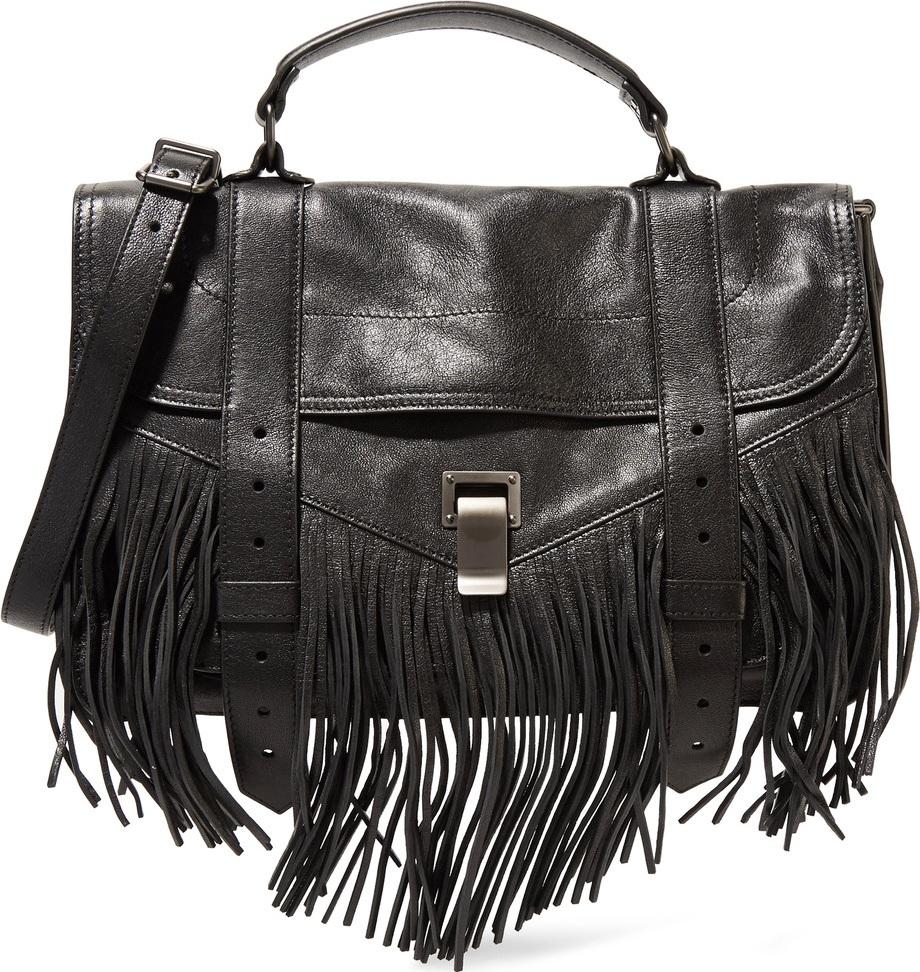 Proenza Schouler - PS1 Medium fringed leather shoulder bag