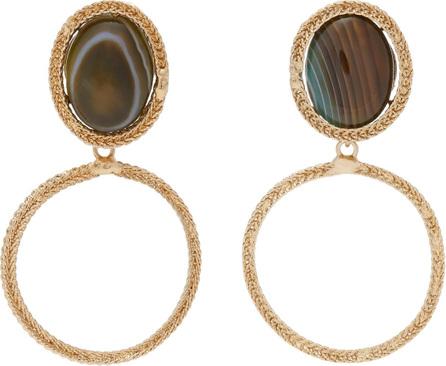 Rosantica Scarabeo stone drop earrings