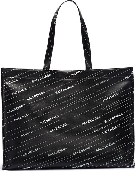 Balenciaga 'Market Shopper' logo print leather tote