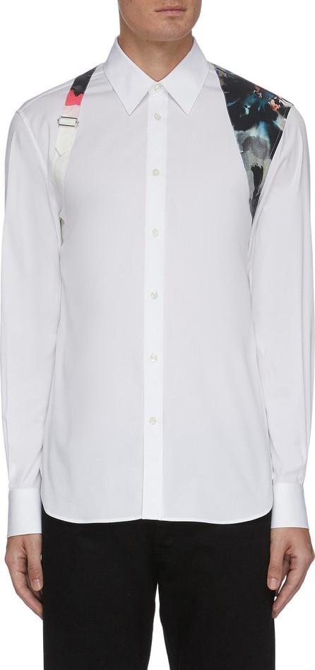 Alexander McQueen Floral print harness shirt