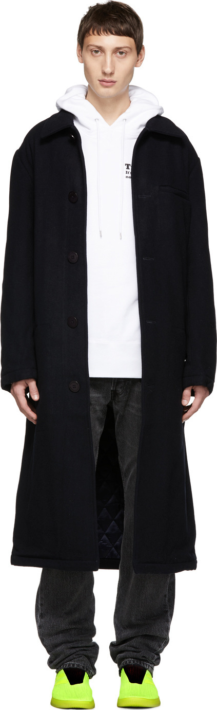 Han Kjobenhavn Navy Wool Square Coat