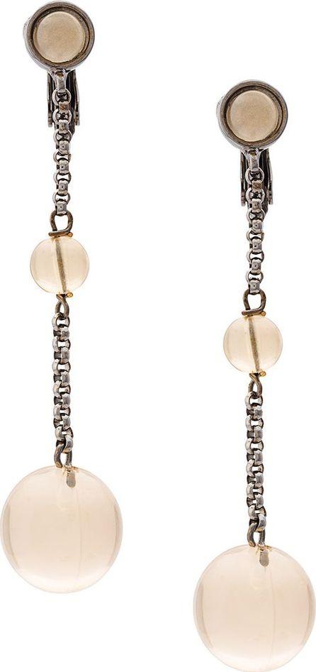 Jil Sander spherical dangling earrings