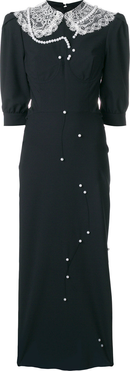 Cristina Savulescu Long laced collar dress