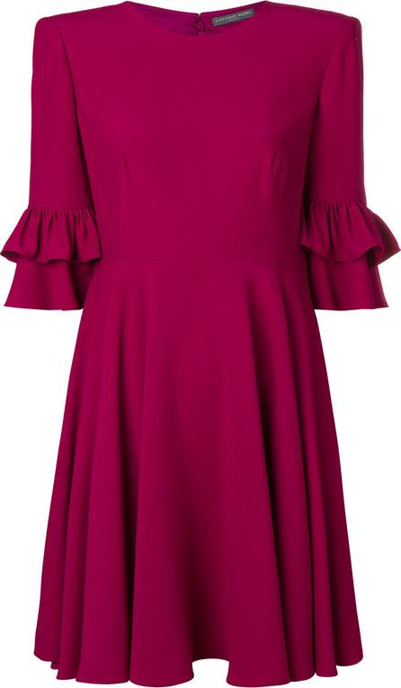 Alexander McQueen Pleated back mini dress