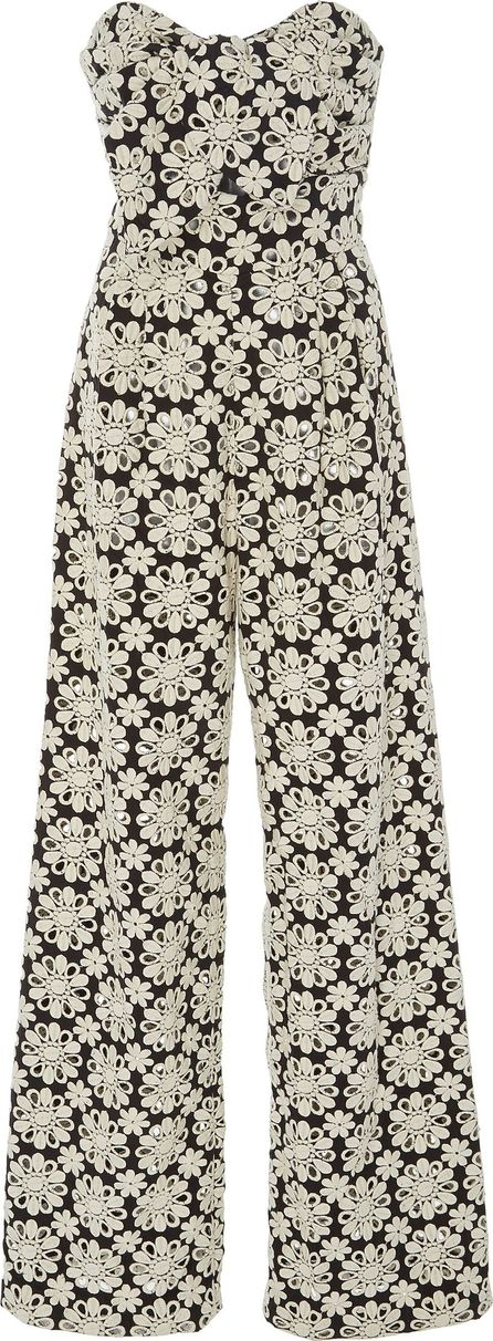 Johanna Ortiz M'O Exclusive Water Lily Strapless Jumpsuit