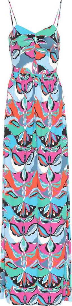 Emilio Pucci Printed silk-blend jumpsuit