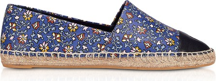 Tory Burch Floral Printed Nappa Leather Espadrilles