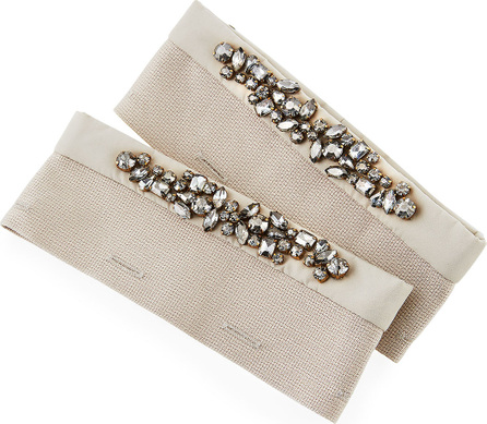 Max Mara Mogano Detachable Crystal Cuffs