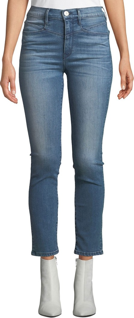 3X1 Jesse High-Rise Straight-Leg Ankle Jeans