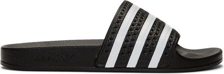 Adidas Originals Black & White Adilette Slides