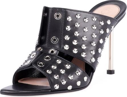 Alexander McQueen Studded Leather Slide Sandals