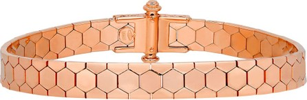 Alberto Milani Polygon Bangle Bracelet in 18K Rose Gold