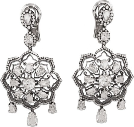 Staurino Fratelli Couture 18k White Gold Diamond Mandala Drop Earrings
