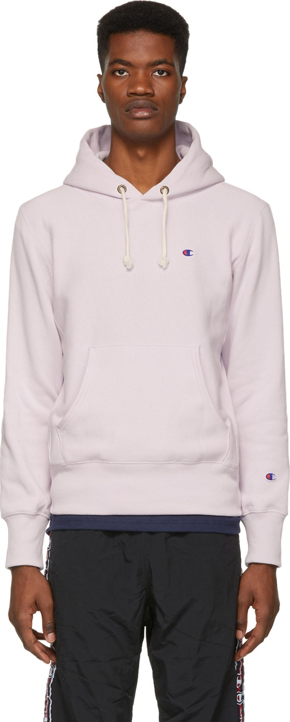 1ebfb7a896f3 Champion Reverse Weave Purple Logo Hoodie - Mkt