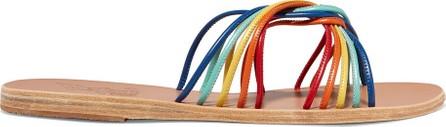 Ancient Greek Sandals Xanthi leather slides