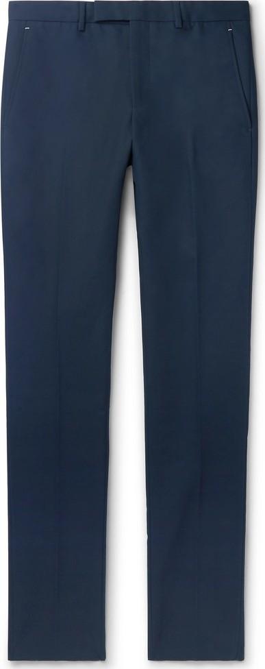 Berluti Navy Slim-Fit Tapered Cotton-Twill Chinos