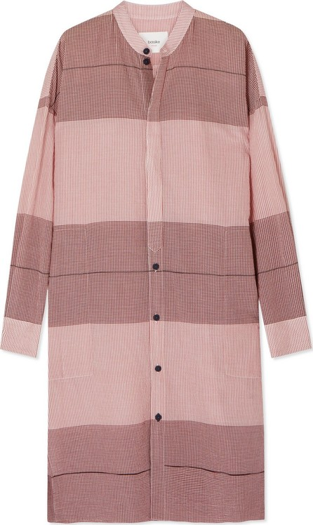 Bassike Checked cotton-gauze tunic