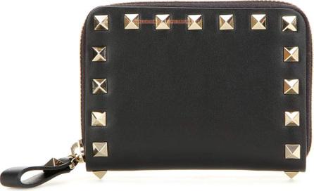 Valentino Valentino Garavani Rockstud leather coin purse