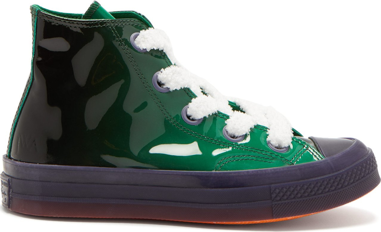 Converse x JW Anderson - Chuck 70 Toy patent-leather high-top trainers