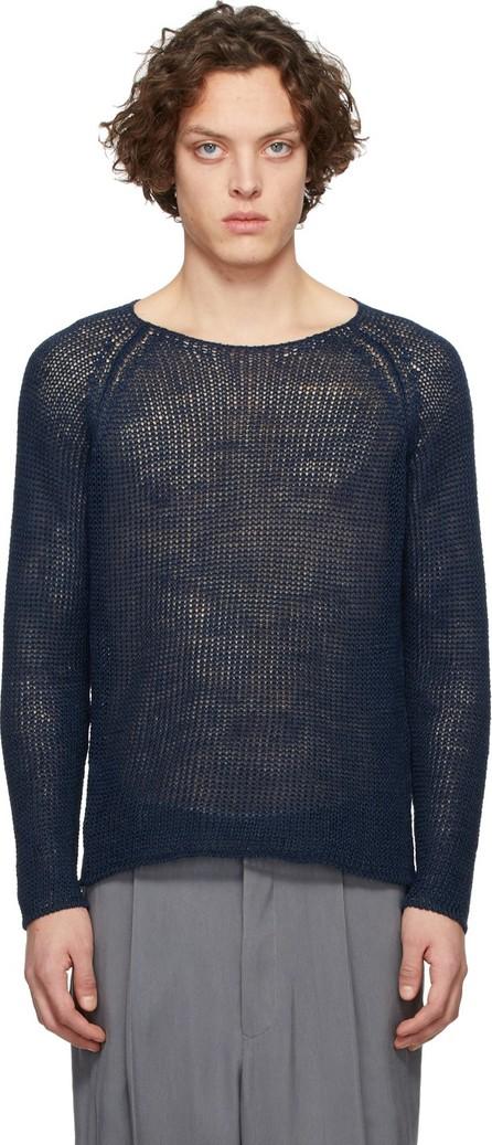Giorgio Armani Navy Hemp Sweater