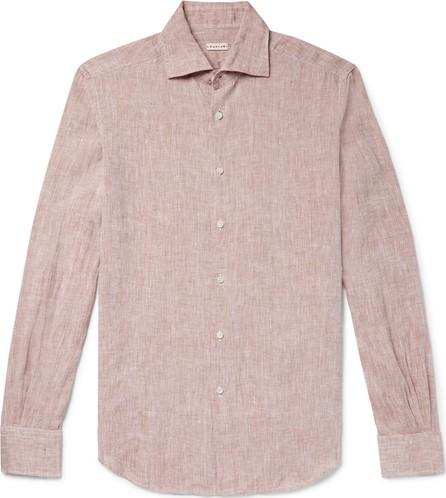 Caruso Slim-Fit Mélange Slub Linen Shirt