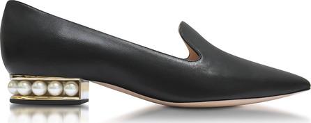 Nicholas Kirkwood Casati Black Nappa Pearl Loafer