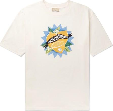 Maison Kitsune Printed Cotton-Jersey T-Shirt