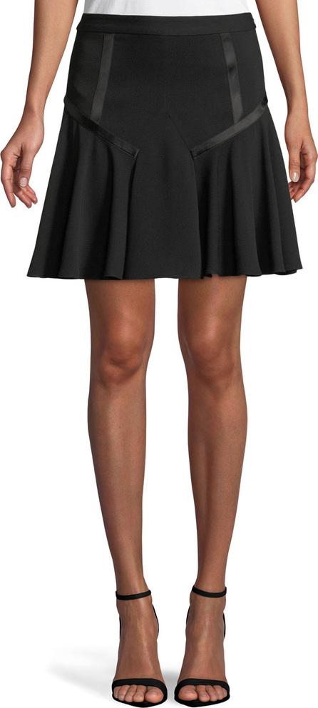 HALSTON HERITAGE Tape-Detail Flounce Skirt