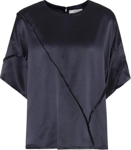 Raw-edge silk T-shirt
