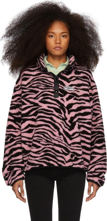 Ashley Williams Pink & Black Fleece Tiger Juju Sweater