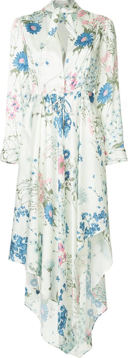 Off White Floral asymmetric dress