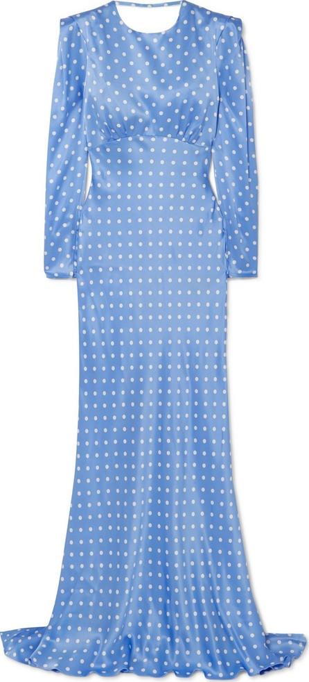 Alessandra Rich Open-back polka-dot silk-satin gown