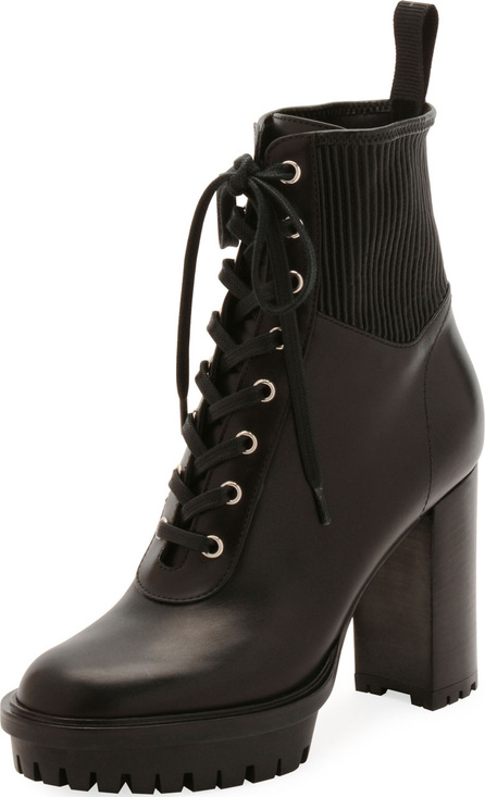 Gianvito Rossi Leather Stretch Platform Bootie
