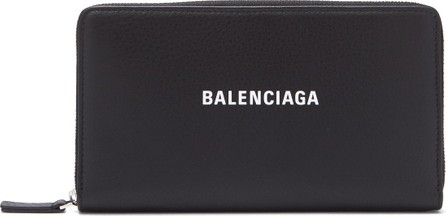 Balenciaga Everyday continental zip-around leather wallet
