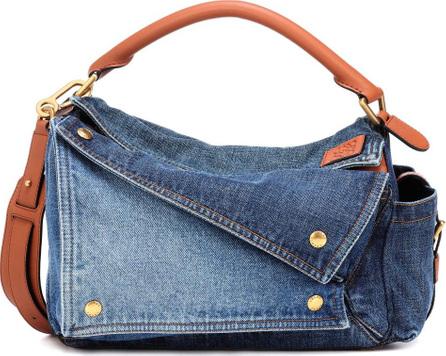 LOEWE Puzzle denim shoulder bag