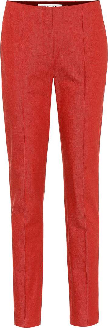 DIANE von FURSTENBERG Stretch-wool straight-leg pants
