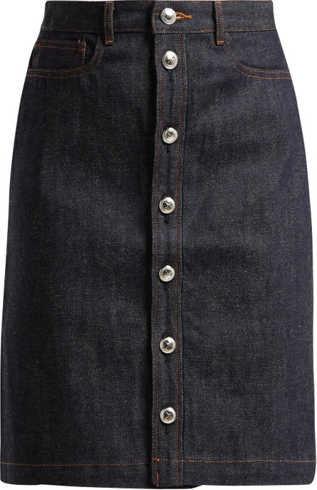 A.P.C. Therese raw-denim skirt
