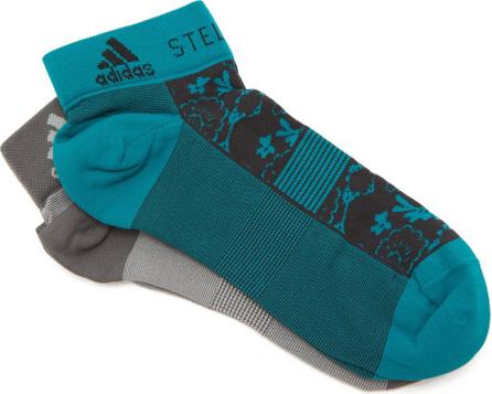 Adidas By Stella McCartney Set of two flower-jacquard socks